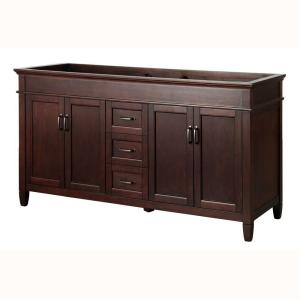 Foremost Ashburn 60 in. W x 21.50 in. D x 34 in. H Vanity Cabinet Only in Mahogany