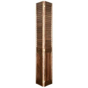 Home fashion technologies 28 in x 80 in louver panel minwax special walnut solid wood interior for Solid wood interior doors home depot