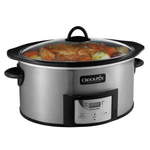 Crock-Pot 6 Qt. Slow Cooker with Stovetop Safe Cooking Pot by
