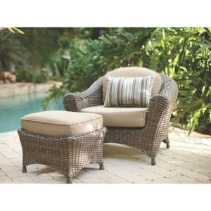 Martha Stewart Living Lake Adela Weathered Gray 2-Piece All-Weather Wicker Patio Lounge... by