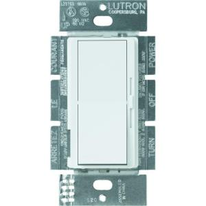 Lutron Diva 300-Watt Single-Pole Preset Electronic Low-Voltage Dimmer - White by