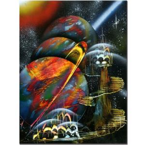 Trademark 18 in. x 24 in. Planet Alignment Canvas Art