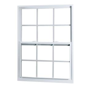 American Craftsman 2301 Single Hung Vinyl Windows, 32 in. x 36 in., White, with LowE3 Insulated Glass, Argon Gas, Grilles and Screen