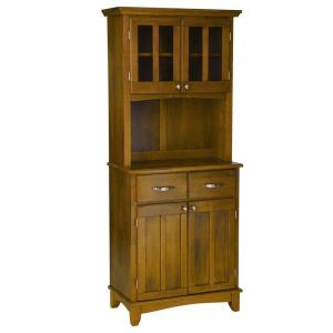 Home Styles Two-Drawer 31.25 in. W Cottage Oak Buffet with Cottage Oak Wood Top and Hutch