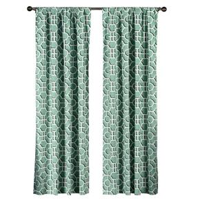 Creative Home Ideas Semi-Opaque Lenox 100% Cotton Extra Wide 96 inch L Rod Pocket Curtain Panel Pair, Teal... by Creative Home Ideas