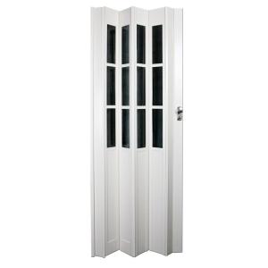 Ltl home products 32 in x 80 in devonshire vinyl white for Accordion glass doors home depot