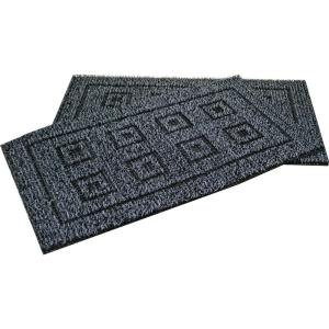 Clean Machine Flair Charcoal 20 inch x 36 inch AstroTurf Door Mat (2-Pack)
