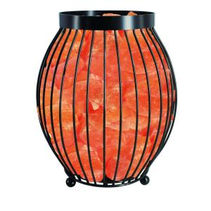 Himalayan Glow 8.3 inch Ionic Crystal Natural Salt Oval Basket Lamp by