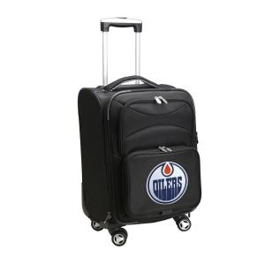 Denco NHL Edmonton Oilers 21 inch Black Carry-On Spinner Softside Suitcase by Denco