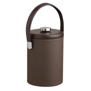 Click here to buy Kraftware Cosmopolitan 2 Qt. Mocha Tall Ice Bucket with Strap Handle and Thick Flat Lid by Kraftware.