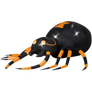 2.5 ft. Inflatable Animated Lighted Spider