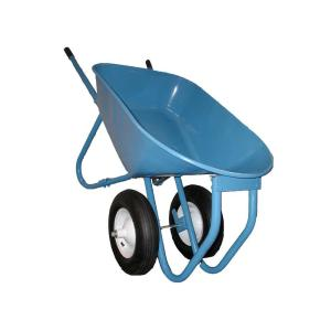 Acro Building Systems Steel Roofing Wheel Barrow 6 cu. ft. with Flat-Free Tires