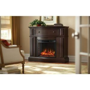 Home Decorators Collection Ludlow 44 In Media Console Electric Fireplace In Burnished Cherry