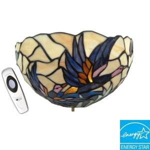 Its Exciting Lighting Wall Mount Stained Glass Mallards Battery ...