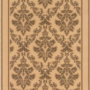 Natco Kurdamir Damask Ivory 33 inch x Your Choice Length Roll Runner