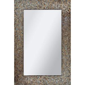 Renwil Amber Mosaic 36 inch H x 24 inch W Rectangular Mirror by