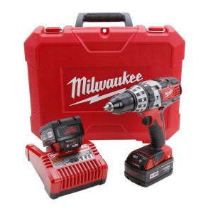 Milwaukee M18 18-Volt Lithium-Ion 1/2 in. Cordless Hammer Drill XC Battery Kit