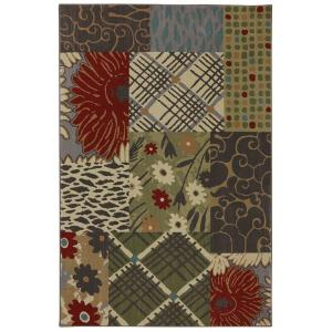 American Rug Craftsmen Emporia Patchwork Saddle 3 ft. 6 inch x 5 ft. 6 inch Accent Rug by