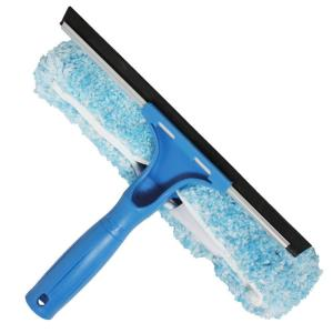 Unger 10 inch Microfiber Combi-Squeegee Scrubber Connect and Clean Locking...