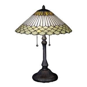 Illumine 2-Light Jadestone Fishscale Table Lamp-DISCONTINUED