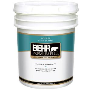 BEHR Premium Plus 5-Gal. Satin Enamel Interior Paint