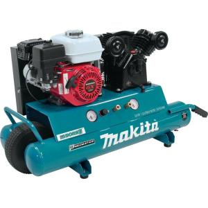 Makita 10 Gal. 5.5 HP Portable Gas-Powered Twin Stack Air Compressor by