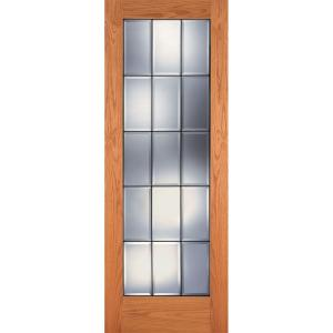 feather river doors 24 in x 80 in 15 lite clear bevel