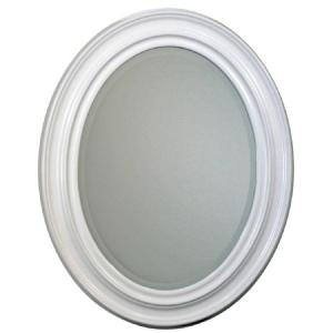 Deco Mirror 24 in. x 31 in. Sonoma Oval Mirror in White