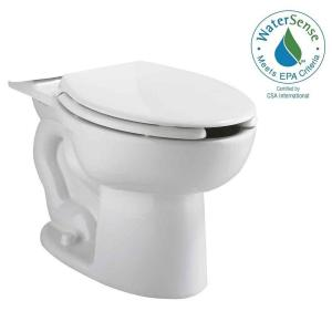 American Standard Cadet Elongated Pressure-Assisted Toilet Bowl Only with EverClean in White by