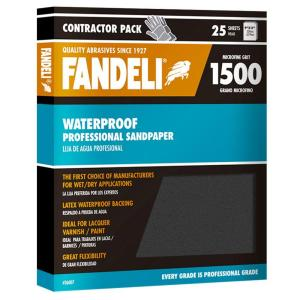 Fandeli 9 inch x 11 inch 1500 Grit Microfine Silicon Carbide Waterproof... from Packaged Sandpaper