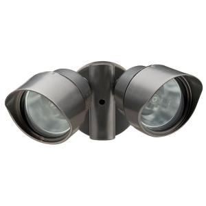 Lithonia Lighting 2-Lamp Outdoor Bronze Floodlight by
