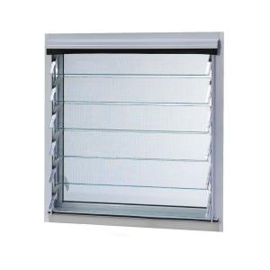 TAFCO WINDOWS Aluminum Jalousie Utility Louver Windows, 12 in. x 70 in., White, 19-Slat