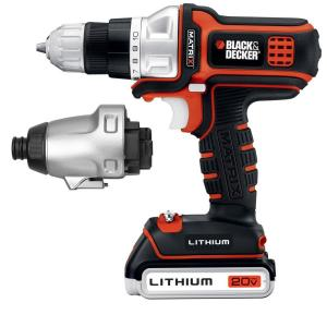 BLACK & DECKER 20-Volt Max Lithium-Ion Matrix Drill & Impact Combo Kit