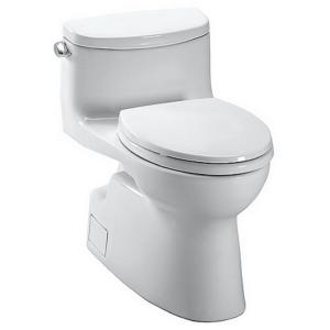 TOTO Carolina II 1-Piece 1.28 GPF Single Flush Elongated Skirted Toilet with... by TOTO