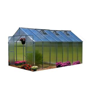 Monticello 8 ft. x 16 ft. Aluminum Finish Greenhouse