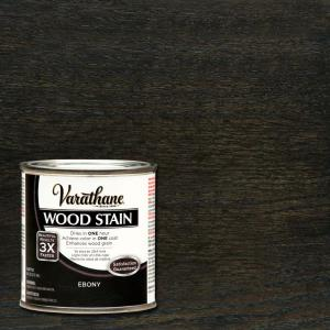 Varathane 1 2 Pt Ebony Wood Stain 266266 The Home Depot