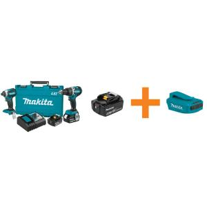 Makita 18-Volt 4.0Ah Lithium-Ion Brushless Combo Kit (2-Piece) and 18-Volt Lithium-Ion... by