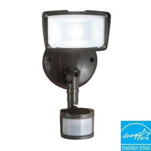 All-Pro 110 Degree Outdoor Motion Activated Bronze LED Security Floodlight