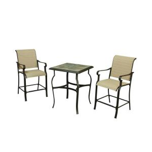 hampton bay belleville 3 piece high patio dining set fcs80208hst the