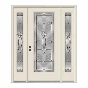 Single Door With Sidelites Jeld Wen Front Doors Exterior Doors The Home Depot