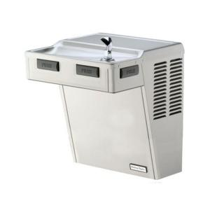 Halsey Taylor HAC Series HAC8FS-Q ADA Wall Mounted Drinking Fountain in Platinum Vinyl by