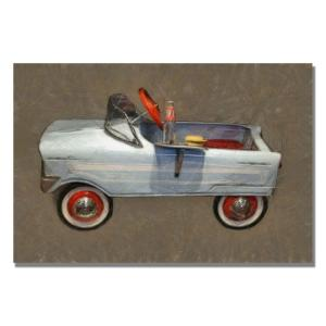 Trademark Fine Art 35 inch x 47 inch Tee Bird Pedal Car Canvas Art from Trikes & Pedal Cars