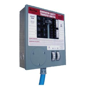 GenTran Prewired 30 Amp 7500 Watt Manual Transfer Switch for 8-10 Circuits-DISCONTINUED