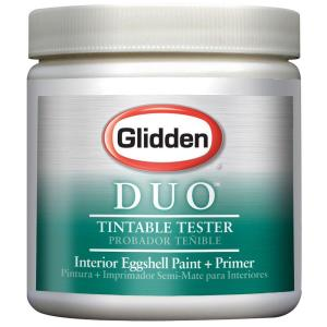 Glidden DUO Eggshell White Paint and Primer Sample