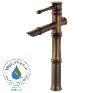 Danze South Sea Single-Hole Single-Handle Mid-Arc Filler Bathroom Vessel Faucet in Distressed Bronze
