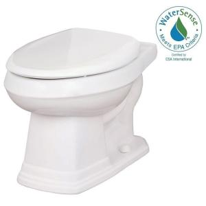 Gerber Allerton 1.28 GPF Elongated Toilet Bowl Only in White by
