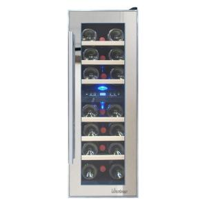 Vinotemp In 21 Bottle Dual Zone Thermoelectric Mirrored Wine Cooler Vt 21tsp 2z The