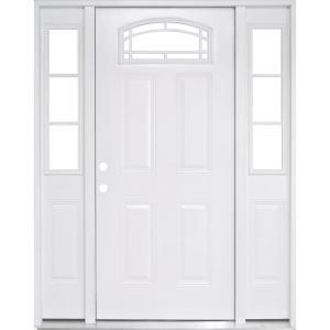 Single Door With Sidelites Steel Doors With Glass Steel Doors The Home Depot