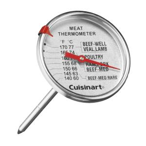Cuisinart Stainless Steel Analog Food Thermometer by