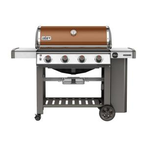 Weber Genesis II E-410 4-Burner Propane Gas Grill in Copper with Built-In Thermometer by